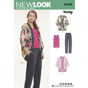 723daa3c019baa 6546 New Look Pattern  Misses  Casual Trousers